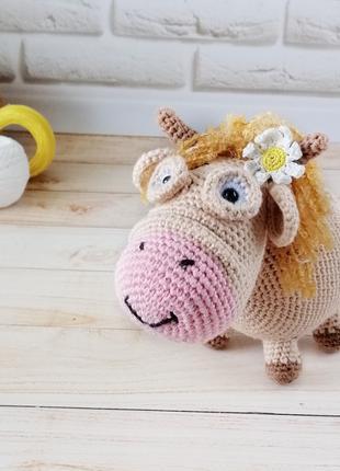 Игрушка коровка, мягкая игрушка для детей и взрослых, символ 2021