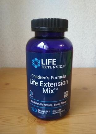 Детские витамины, Life Extension Mix, 120 жевательных таблеток