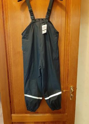 Новые штаны полукомбинезон дождевик на флисе как lupilu