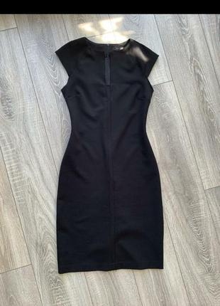 """Базовое черное платье /футляр  миди """"zara basic"""""""