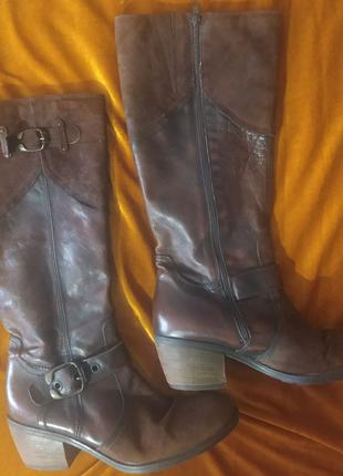 Кожаные сапоги Carmens