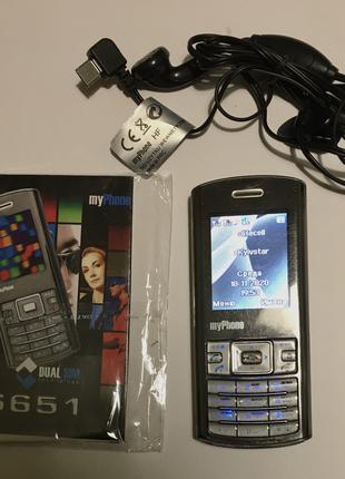 Кнопочный телефон 2-сим MyPhone 6651