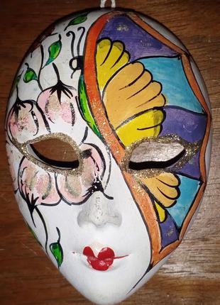 Сувенирная керамическая, венецианская маска