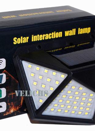 Прожектор 100 LED на солнечной батарее с датчиком движения