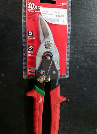 Ножницы для резки металла MILWAUKEE правый рез 48224520