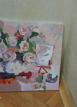 Квіти і скрипка картина