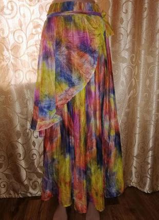 🌺🌺🌺женская длинная цветная пляжная юбка, парео🌺🌺🌺