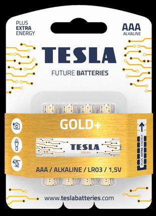 Щелочные батарейки Tesla Gold+ AAA 4шт.