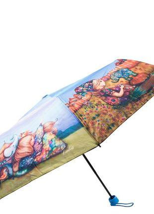 Зонт женский молодежный механика lamberti девочка и щенок
