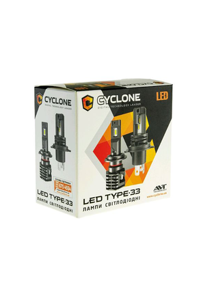 CYCLONE LED H1/3/4/7 H/L 5000K 4600LM TYPE 33