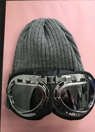 Шапка с лыжными очками бомба 2018 года