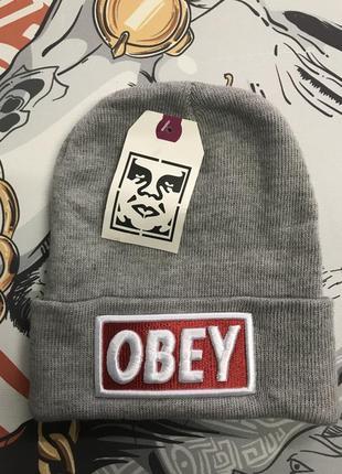 Шапка серая obey