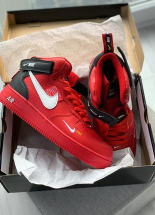 Nike air force 1 mid utility red  (новинка 2019 года)