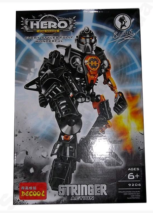 Конструктор DECOOL Hero Star Soldier аналог LEGO Hero Factory STR