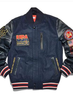 В наличии Оригинал курточка Nike Letterman USA Шерсть/Кожа M,L