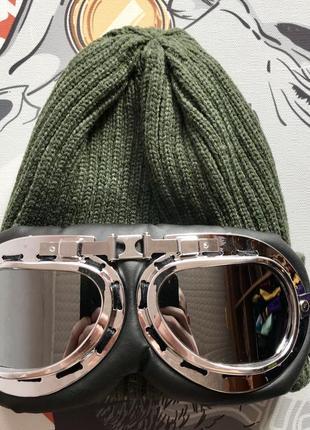 Шапка зимняя с лыжными очками
