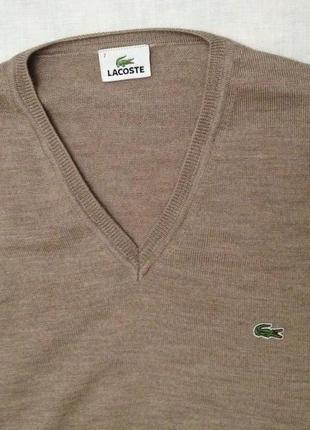 Пуловер шерсть lacoste 7/xl
