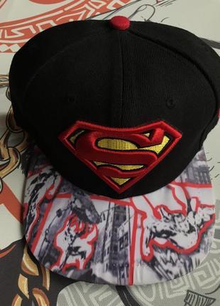 Кепка бейсболка snapback superman комиксы dc фирма new era