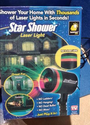 Звездный лазерный проектор Star Shower Laser Light новогодняя гир