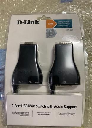 KVM-переключатель D-Link KVM-221 2xUSB, 1xVGA