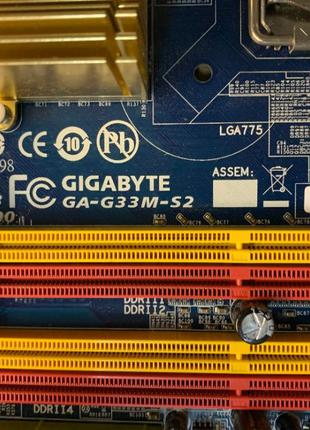 Материнская плата GIGABYTE GA-G33M-S2 775 Socket