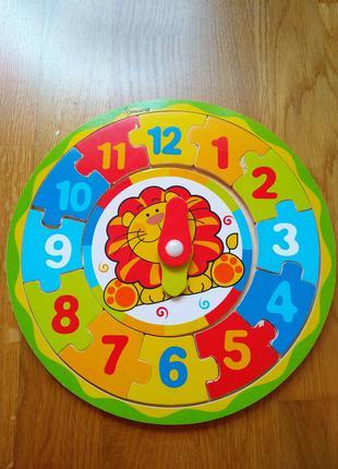 Часы - пазл деревянные