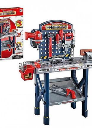 Игровой набор Стол с инструментами,дрель пила молоток отвертки