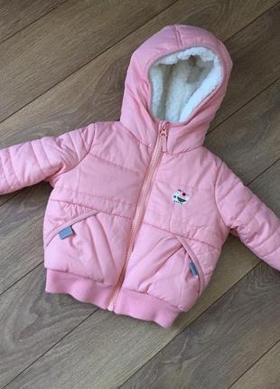 Новая стильная курточка на малышку 3-6