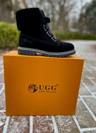 Ботинки Ugg Boot Fur Black