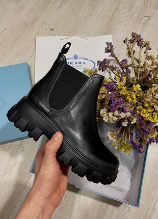 Ботинки Prada Chelsea Leather Beatle