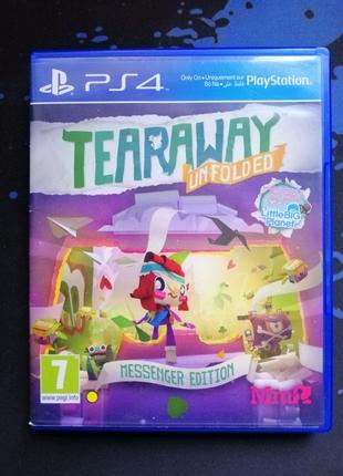 PS4 Tearaway Unfolded рос. (Сорванец: развернутая история)