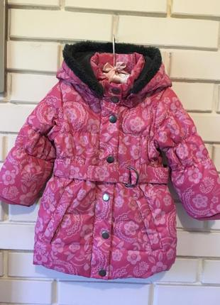 Пуховое пальто pumkin patch на 2 года