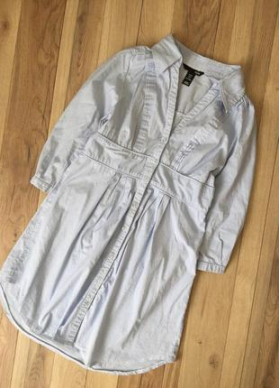 Платье рубашка в вертикальную полоску h&m