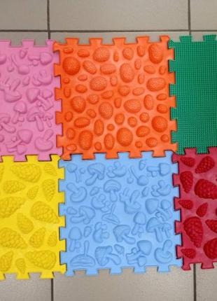 Коврик ортопедический ортопедичний дитячий килимок. Пазли 6 шт