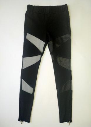 Стильные дизайнерские спортивные штаны для девочек 01G19A21BL