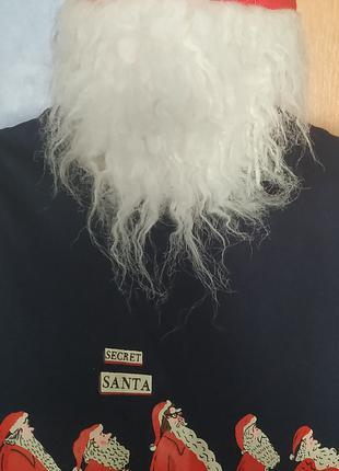 Маска-борода деда мороза