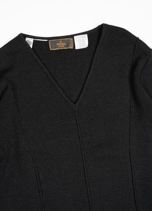 Fendi винтажное шерстяное платье оригинал италия