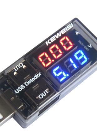 Keweisi Детектор-Тестер USB для зарядных устройств Вольтметр Ампе