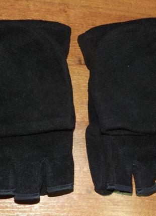 Теплые флисовые безпалые перчатки/рукавицы