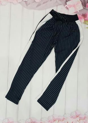 Штаны для девочек в полоску