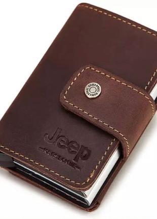 Мужской кожаный кошелек, держатель для карт Kavis