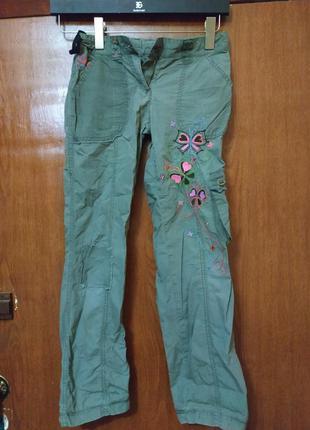 Штаны брюки спортивные на девочку плащевка