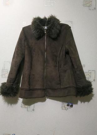 Женская дубленка куртка меховая шуба пальто пуховик зимнее