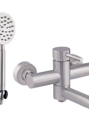 Lidz (NKS) 12 32 006-1 Смеситель для ванны короткий излив Нерж