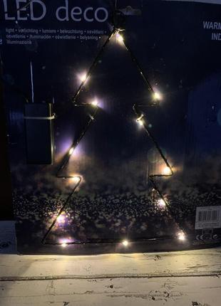 Украшение ночник светодиодная елка германия декор подвеска