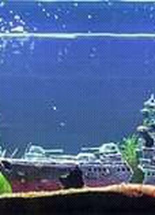 Декорация в аквариум Военный корабль крейсер (70см)