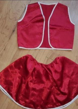 Карнавальный костюм детский красная шапочка