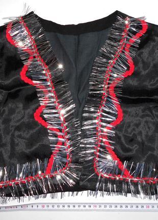 Черная жилетка к карнавальному костюму
