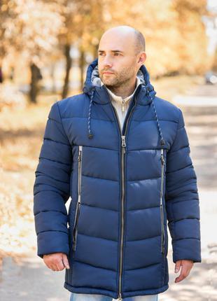 Удлиненна зимняя мужская куртка like