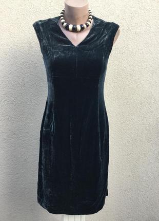 Бархат,велюр платье вечернее,сарафан,прямой крой,вискоза+шёлк,...